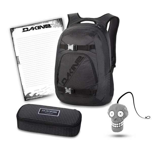 Dakine Explorer 26L + School Case XL + Harry + Block Set per la Scuola Rincon