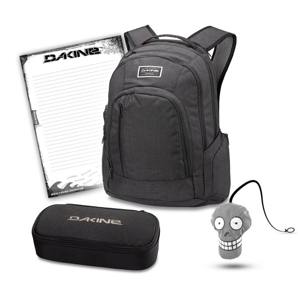 Dakine 101 29L + School Case XL + Harry + Block Set per la Scuola Black