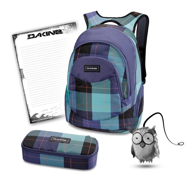 Dakine Prom 25L + School Case XL + Emma + Block Schulset Aquamarine